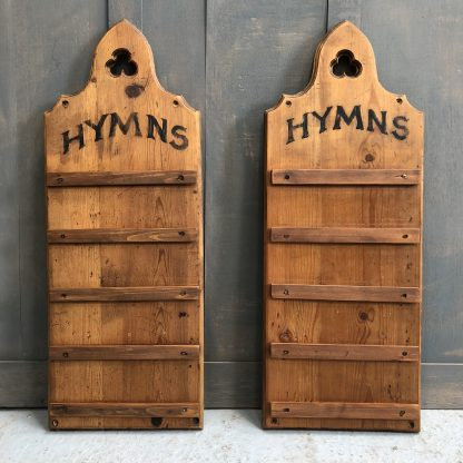 Pine Hymn Boards with Arched Tops