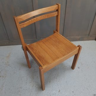 Modern Oak Slat Seat Church Chapel Chairs