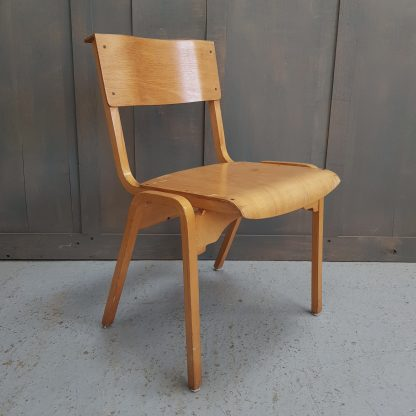English 1960's Vintage Plywood Stacking Chairs