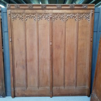 Tall Gothic Six Panel Solid Oak Panel Section