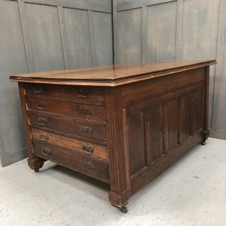 Magnificent Edwardian Oak Vestment Plan Chest