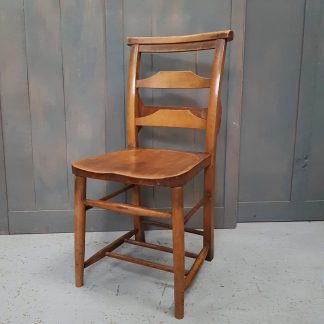 Gorgeous Vintage Elm & Beech Ladderback Church Chapel Chairs