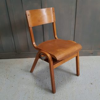Mid Century Vintage Ply Stacking Chairs