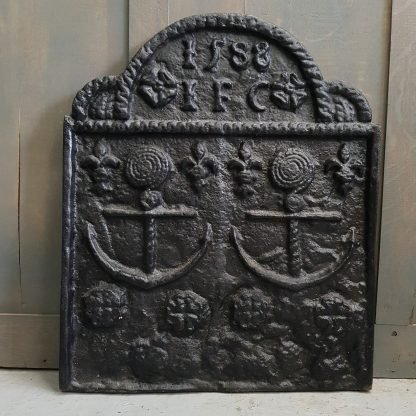 1588 Cast Iron 'The Armada' Fireback
