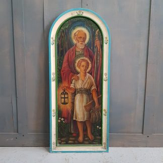 Oil Painting By A.E.Lemmon St Joseph and Young Jesus the Carpenter