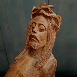 Unusual Hand Carved Christ Corpus Figure Alternative Crucifix