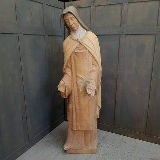 Important Larger than Life Statue in Coade Stone of St Teresa of the Child Jesus