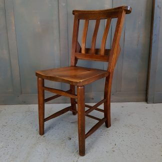 Westcliffe Elm and Beech 1920's Slatback Church Chapel Chairs