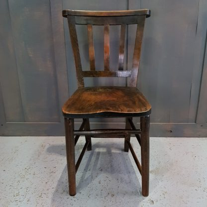 Beaconsfield Elm & Beech Slatback 1930's Church Chapel Chairs