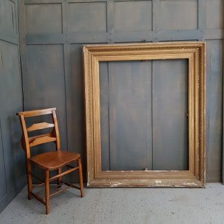 Very Large Victorian Gold Pine and Gesso Picture Frame
