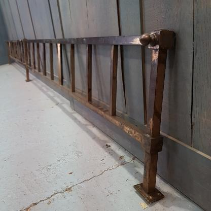 Long, Low Solid Brass Antique Railing Rail