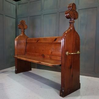 Ancient Styled Antique Poppyhead Pews from All Saints, Wyke Regis