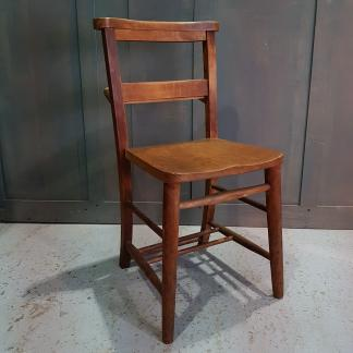 Teddington Elm & Beech Church Chapel Chairs with Bookshelf