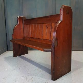 Antique Pine Shrewsbury Congregational Church Pew