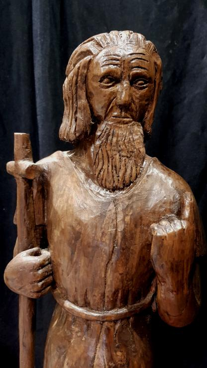 Hand Carved from a Single Piece of Wood Christ the Shepherd