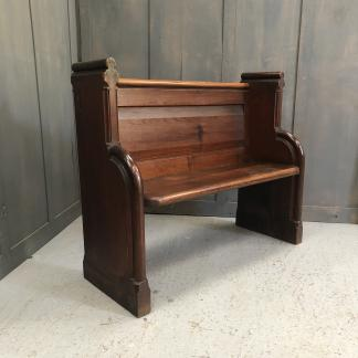 Pitch Pine 1875 Church Chapel Pew