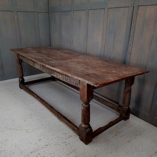 Ancient 16th Century Timbered Farmhouse Refectory Table
