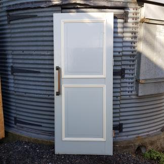 Extremely Heavy Vintage Pine Door with Fantastic Brass Handles