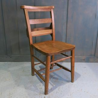 Vintage 1940's Elm & Beech Double Ladderback Church Chapel Chairs