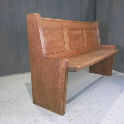 Rhyl Modern Danish Styled Solid Back Elbowed Church Chapel Pew