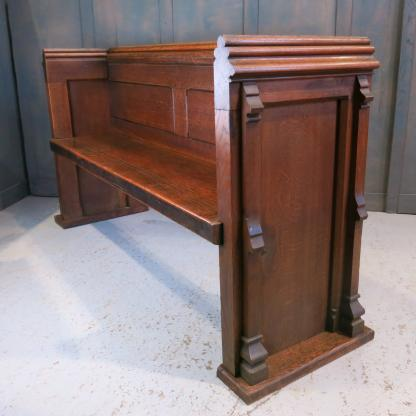 Gothic Mid 19th Century Solid Oak Buttress Church Pews