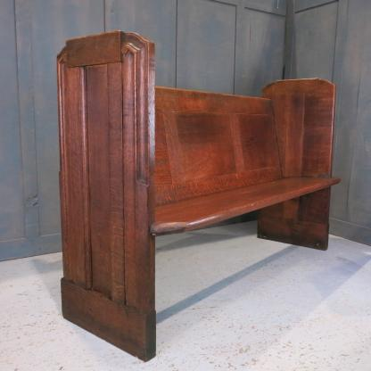 Solid Oak 'Odeon' Style 1930's Vintage Deco Northwood Church Chapel Pews