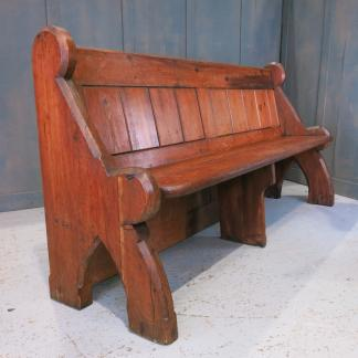 Kingston Antique Pine T&G 'First Pew' with Large Back Panel