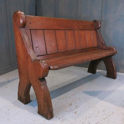 Kingston Antique Pine T&G Church Chapel Pew