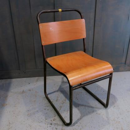 Whitstable Vintage 1960's Tubular Steel & Ply Stacking Chairs