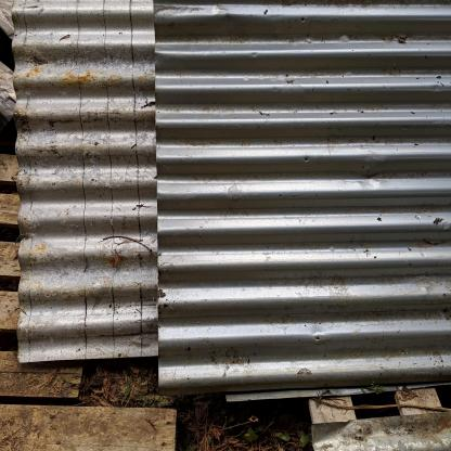 Reclaimed Corrugated Industrial Roofing Sheets, Cladding, Panels