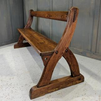 Victorian 'Y' Shape Simple Pew Bench from a Private Chapel in Dover