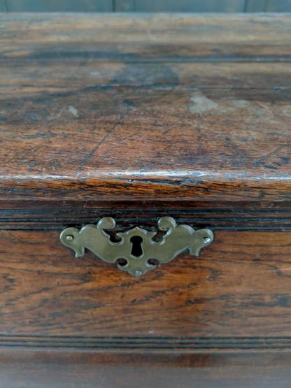 Giant Massively Heavy Antique 18th Century Oak Coffer Blanket Box