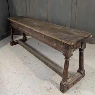 Very Old Pine Four Leg Refectory Bench