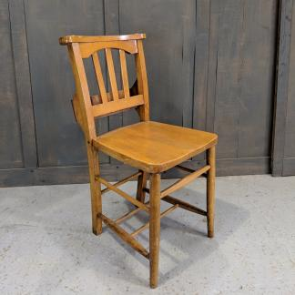 Peacehaven Vintage Slatback Church Chairs With a 'Varnish Finish'
