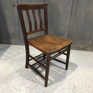 Extra Large Vintage Slatback Church Chapel Chairs from Worcester