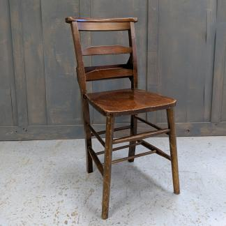 West Ham Baptist Medium Brown Beech Vintage Ladderback Church Chapel Chairs