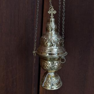 Acanthus Pattern Brass Thurible Censer Incense Burner
