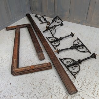 Set of Victorian Iron & Wood Altar Rails Ralings from West Ham Baptist Church