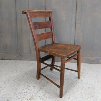 Dark High Back Antique Elm Church Chapel Chairs from All Saints, Basingstoke