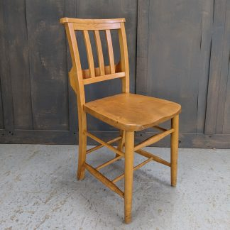 Dorking 1960's Vintage Elm & Beech Slatback Church Chapel Chairs