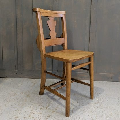 High Wycombe Oak & Beech Fiddleback Chapel Chairs