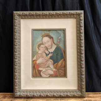 Early 1800's Cusco 'Tin Art' Christ & Child