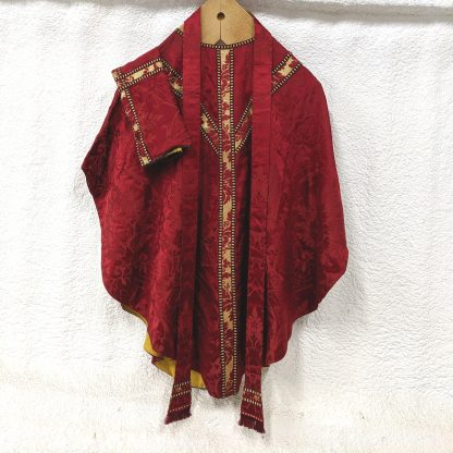 Warham Guild Red, Gold & Black Chasuble with Stole & Veil