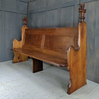 Westcliffe-On-Sea Edwardian Golden Oak High Back Church Choir Pew