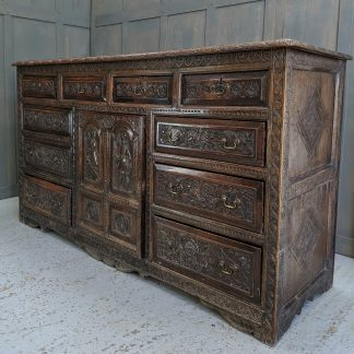 Very Grand & Early Carved Oak Dresser Sideboard dated 1683