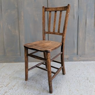 Elm & Beech Vintage School Slatback Chairs from Stockport