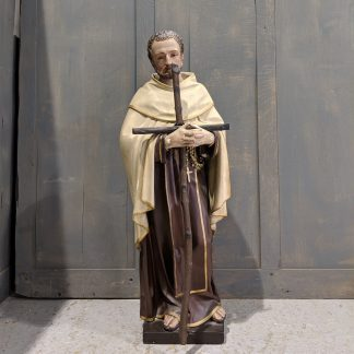 Carmelite Saint With Cross (Who?) from the Maricolen Convent, Antwerp 1860