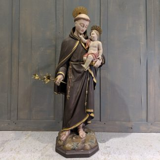1860 Antique St Antony & Child from Maricolen Klooster, Antwerp