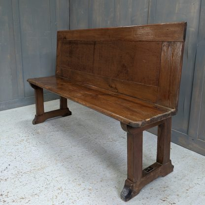 Simple Antique Lightweight Pine Bench from Providence Chapel, Croydon