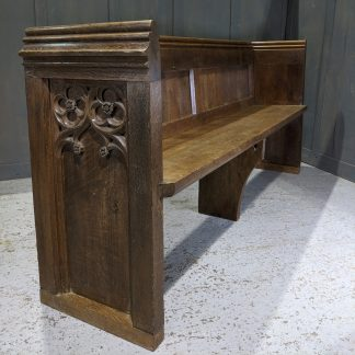 Victorian Oak Gothic End Church Chapel Pews